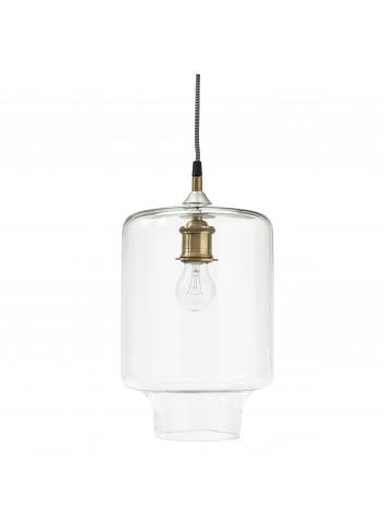 Hanging lamp - glass/brass