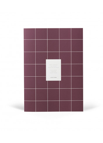 Monthly Planner Book MILO - dark plum