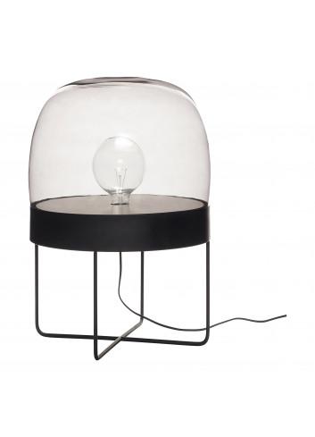Floor lamp - smoked glass/black