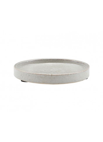 Tray 100% earthenware - shellish grey