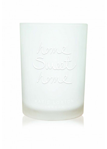 Sentiment candle 'home sweet home'