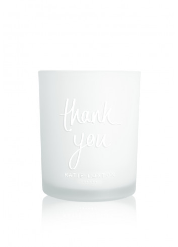 Sentiment candle 'thank you'