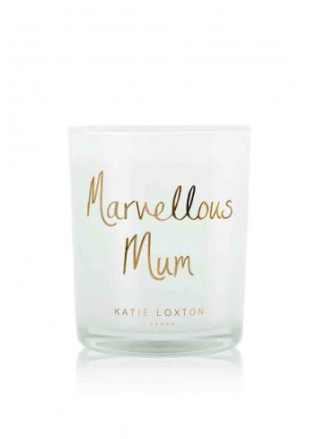 Metallic candle 'marvellous mum'