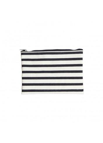 Pouch - black/white stripes