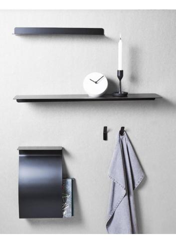 Magazinehouder/wandplank - zwart