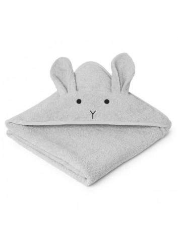 Augusta hooded towel - rabbit dumbo grey