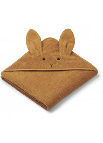 Augusta hooded towel - rabbit mustard