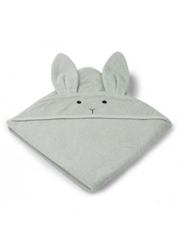 Augusta hooded towel - rabbit dusty mint