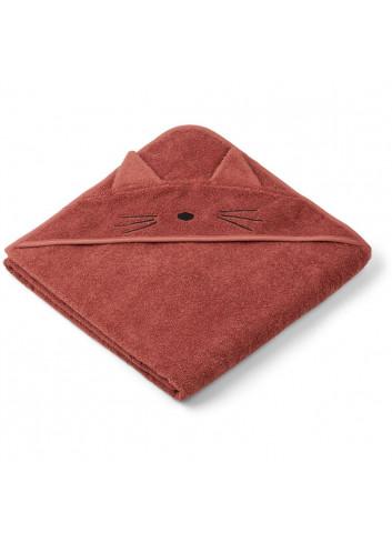 Augusta hooded towel - cat rusty