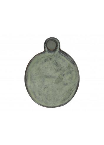 Candleholder stoneware 'Myg' - iceberg green
