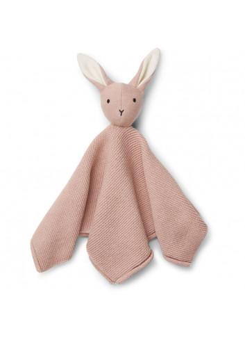 Milo knit cuddle cloth - rabbit rose