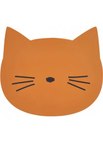 Aura placemat - Cat mustard