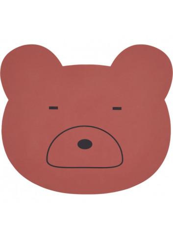Aura placemat - Mr bear rusty