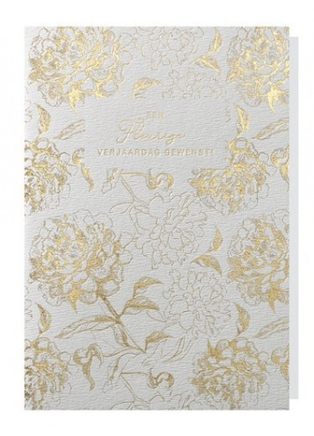 Greeting Card |Gold Flowers