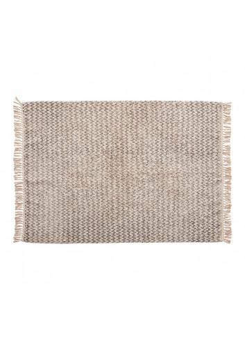 Rug, woven, cotton, white/grey
