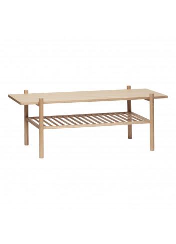 Table w/shelf, oak, nature - Showroommodel