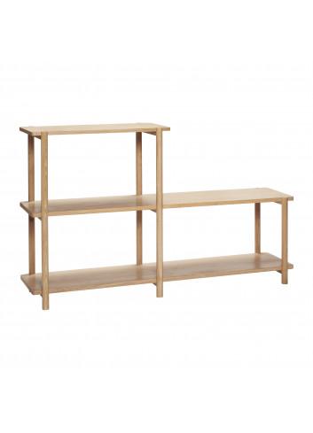 Shelving unit w/3 shelves, oak - Showroommodel