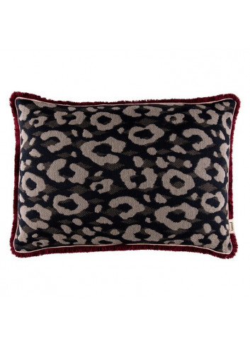 Pillow Leopard - Anthracite