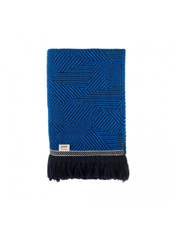 Plaid Royal Mousse Throw Blue