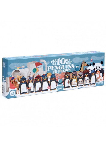 Counting Puzzle - 10 Penguins
