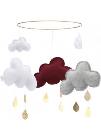 Mobile clouds burgundy/grey