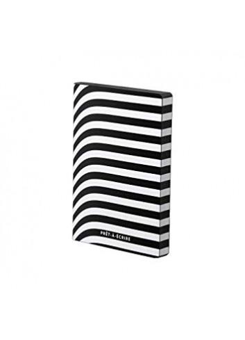 Notebook prêt-à-écrire - leather - black/white