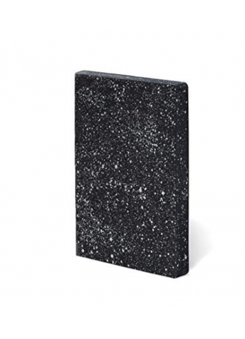 Bullet Journal/Notebook Milky Way - leather - black/white