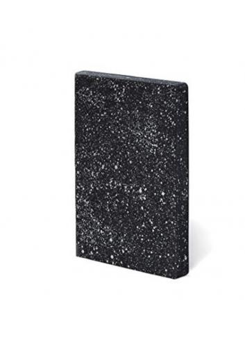 Bullet Journal/Notitieboek Milky Way - leder - zwart/wit