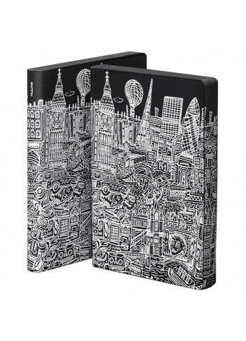 Bullet Journal/Notebook London - leather - black/white