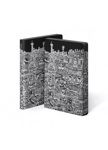 Bullet Journal/Notebook Paris - leather - black/white
