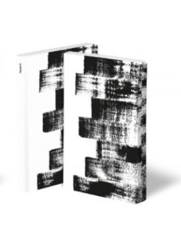 Bullet Journal/Notitieboek Stroke - leder - zwart/wit