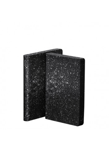 Bullet Journal/Notebook Small Milky Way - leather - black/white