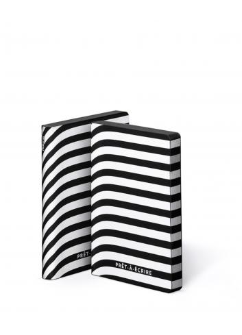 Bullet Journal/Notitieboek Prêt-à-écrire (Small) - leder - zwart/wit