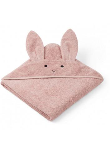 Augusta hooded towel - rabbit rose