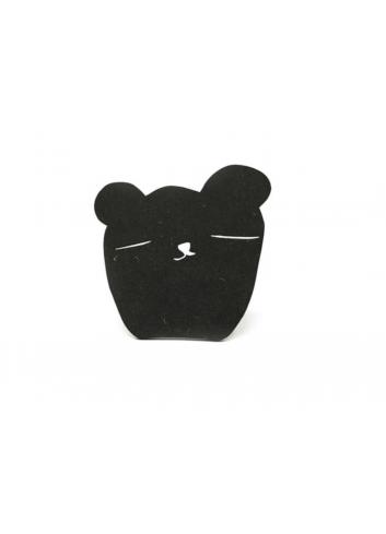 Wallhooks Black Wood - Bear