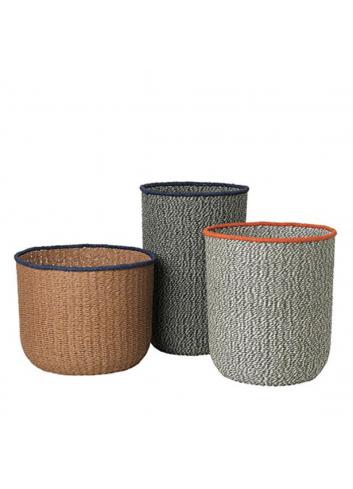 Braided Floor Baskets (Set of 3)