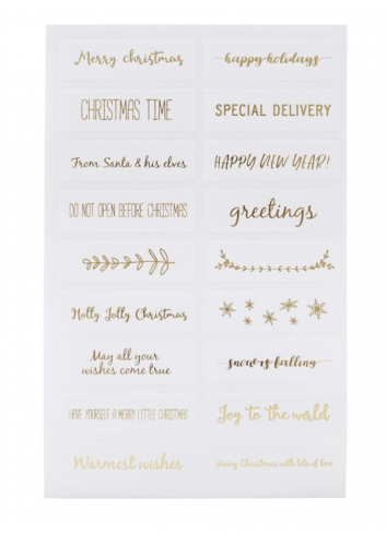 Stickers, Quotes , Gold, 6 pcs/pack