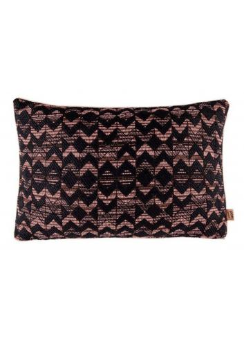 Pillow Woven Geometric - Coral