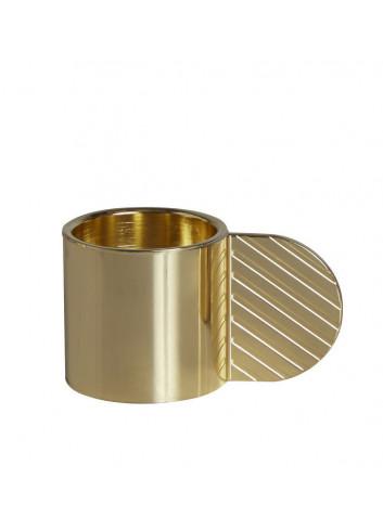 Art Candleholder Circle Brass