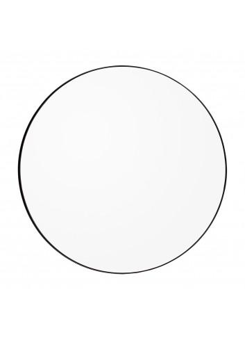 Ronde spiegel CIRCUM M - transparant/zwart