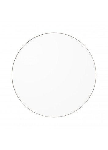 Ronde spiegel CIRCUM M - transparant/taupe