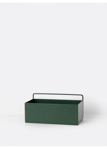 Muurbox - Donker groen/rechthoekig