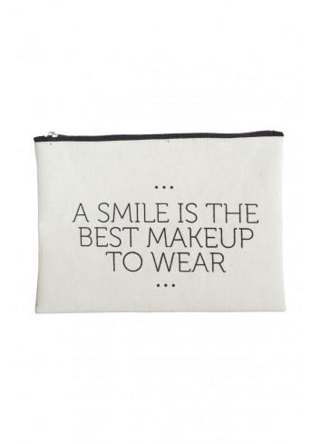 Pouch - black/white smile