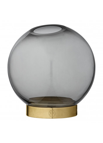 Vase GLOBE w. stand S - black/gold