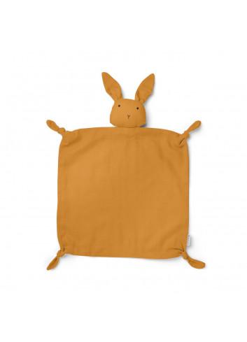 Agnete cuddle cloth - rabbit mustard