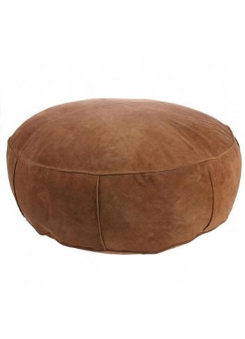 Suede pouf xl - brown