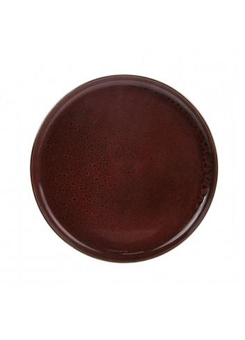 Ceramic dinner plate - cerise
