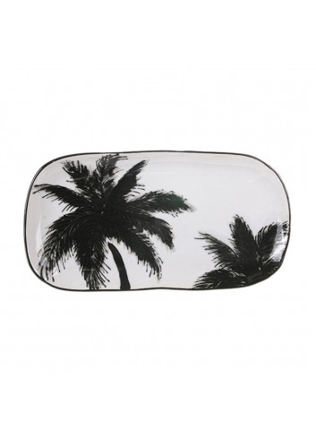 Serving tray ceramic - palms