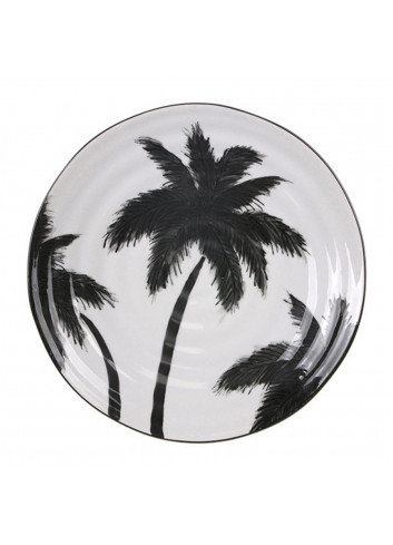 Serving tray ceralmic - palms