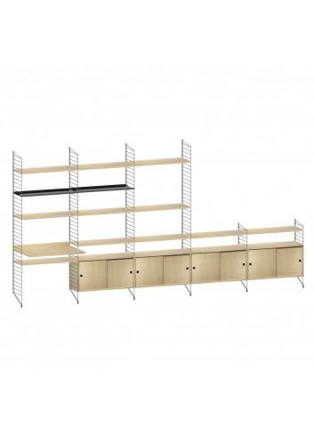 Shelving System - Black/Oak